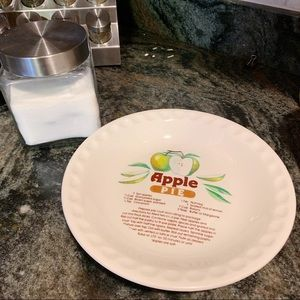 Other - Vintage Style Apple Pie Recipe Dish